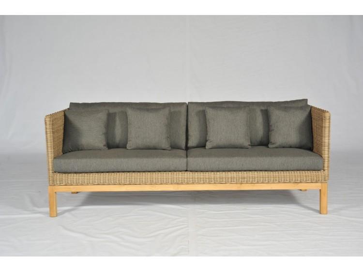 Peachy Maui Dining Sofa 4 Seater High Arm With 10Cm Cushion Theyellowbook Wood Chair Design Ideas Theyellowbookinfo