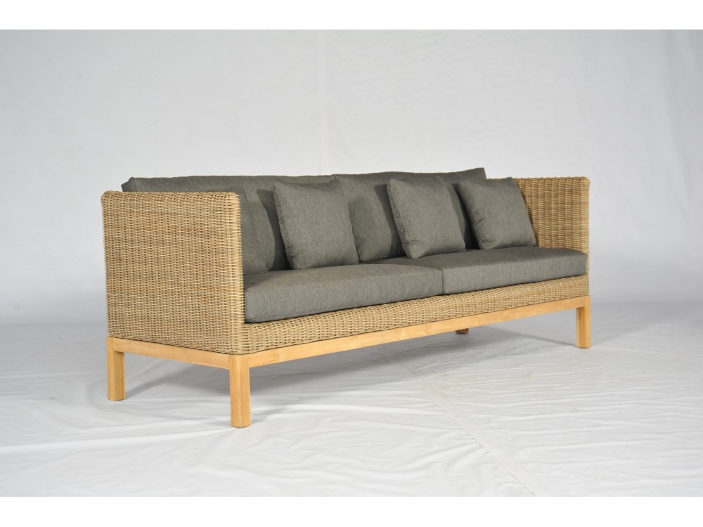 Marvelous Maui Dining Sofa 4 Seater High Arm With 10Cm Cushion Theyellowbook Wood Chair Design Ideas Theyellowbookinfo
