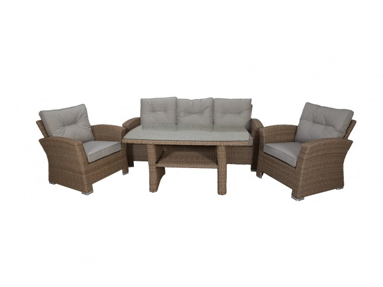 Brighton coffee table with shelve