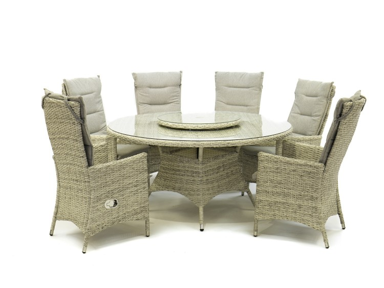 Windsor Round Table With Lazy Susan, Windsor Round Table